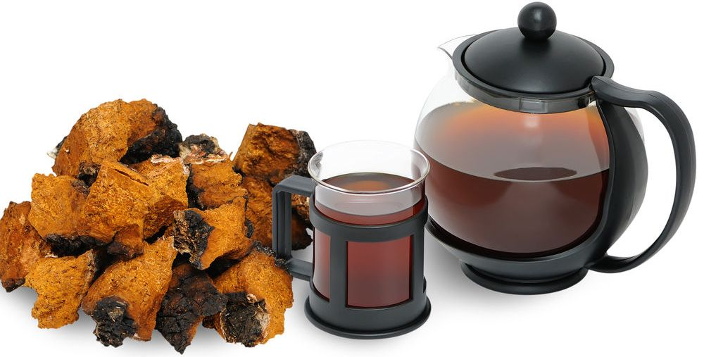 Chaga Tea Preparation